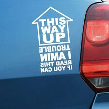THIS WAY UP IF YOU CAN READ Decal Sticker Window Bumper Tailgate Car Auto