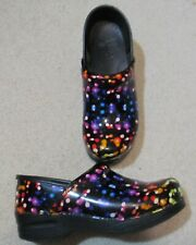 Dansko Multicolored Patent Leather Clogs Womens Size 38 / 7.5 - 8