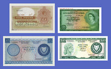 CYPRUS - Lots of 4 notes - 1...10 Lira - Reproductions