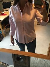 Ralph Lauren Camisa/Blusa señoras rayas en rosa UK12