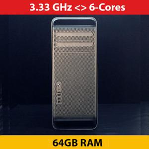 Mac Pro | 3.33 Ghz 6-Cores | 64 GB RAM | 1TB HDD | ATI 5770 1GB