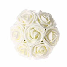 Ling's Artificial Flowers, 50 Real Looking Ivory Roses, DIY Wedding Touch Decor
