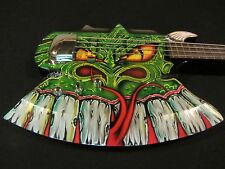 Gene Simmons Cort Axe Bass - Custom Painted by Gentry Riley - Green Serpent Kiss