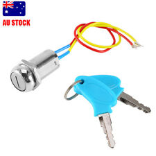 2 Wire Key Ignition Switch locking Keys Lock For Electric Scooter ATV Moped Kart