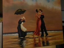 """Oil Painting on Canvas """"The Singing Butler"""" by Jack Vettriano redone by Pat Moor"""
