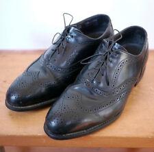 Bostonian Iron Age Black Leather Steel Toe Safety Dress Wingtips Oxfords 8W 41