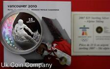 2007 CANADA VANCOUVER 2010 HOLOGRAPHIC SILVER PROOF $25 COIN BOX & CERT
