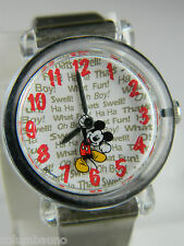 MICKEY MOUSE   LADIES /GIRLS WATCH CLEAR CASE  / NEW BATTERY