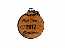 Personalized First Xmas Wooden Christmas Ornament (FREE SHIPPING)
