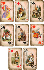 Vintage inspired Alice in Wonderland playing cards tags scrapbooking crafts 8
