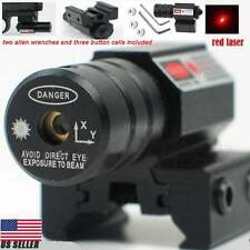 Tactical Red Laser Beam Dot Sight for Guns Rifle Pistol Picatinny Mount WP 2018