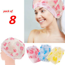 Waterproof Elastic SHOWER CAP Hat Reusable Bath Head Hair Cover Salon Eyelash UK