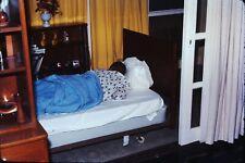 Org Photo Slide 1960's Vietnam war military Base house bedroom sleep child kid