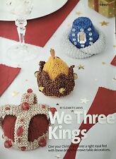 KNITTING PATTERN Christmas Crown Table Nativity Decorations We Three Kings MAKE