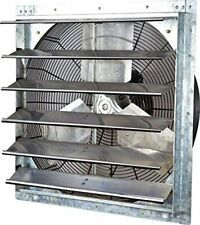 24 Inch Exhaust Fan Shutter For Barn Attic Body Shop Work Air Mover Large Garage