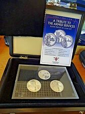 2011 Guernsey A Tribute to Armed Service Silver Proof £5 Boxed Set Ltd 193/495