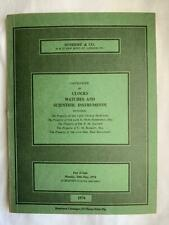 Sothebys Jan 31st 1974 Fine English and Foreign Silver & Plate Auction Catalogue