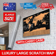 Luxury X Large Interactive Travel Atlas Decor Large Scratch Off World Map Poster