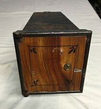 Antique Vintage Safe Deposit Inner Interior Box Compartment Halls Cary Diebold