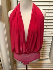 Sexy Fuchsia Pink Blouse Bodysuit Size S