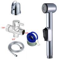 "Brass 7/8"" T-adapter Valve Set Handheld Bidet Toilet Spray Douche Sprayer Diaper"