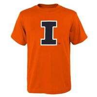 "Illinois Fighting Illini NCAA Outerstuff Youth Orange ""Clean Team Logo"" T-Shirt"