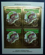 Zentralafrika Central Africa 1982 Leopard Rotary Gold 819 A Kleinbogen MNH