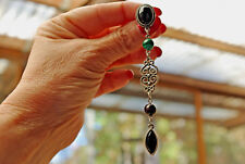 "Silver-tone 3 Stone 4"" Long Drop/Dangle Post  Earrings"