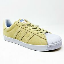 Adidas Superstar Vulc ADV Pastel Yellow Tan CG4838 Mens Casual Shoes