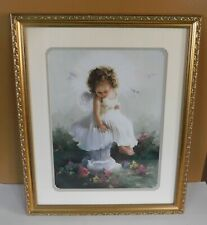 Home & Garden Party Girl Baby Angel Ii Doves Framed & Matted Picture Print