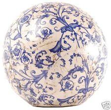 Gartenkugel Dekokugel Keramik 18cm Aged blau AC12