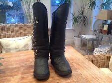 Australia Luxe black studded long boots UK8 / EU41 US10