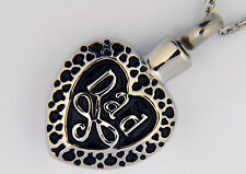 "Dad Heart Cremation Jewelry Pendant Keepsake Urn with 20"" Necklace - Funnel"