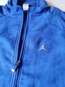Air Jordan Suede Style XL Full Zip Track Jacket Royal Blue Mesh Lined Very Nice