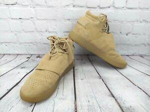 Adidas CG5069 Tubular Invader Strap Linen Khaki Beige Tan Men's Size 9