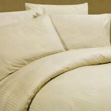 King Size Beige Striped 4 Piece Sheet Set 1000 Thread Count 100% Egyptian Cotton