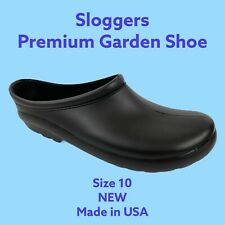 NEW Sloggers Mens Premium Garden Outdoor Clog Work Shoe Black Size 10