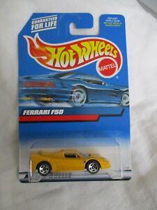Hot Wheels 2000 Mainline Series Ferrari F50 Yellow Mint In Card