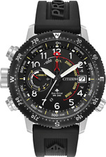 Citizen PROMASTER ALTICHRON Black Dial Rubber Band Men's Watch BN5058-07E