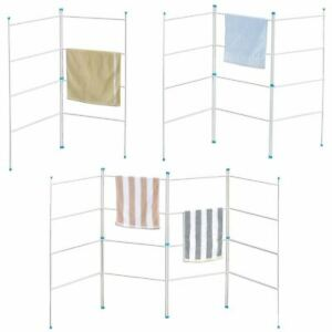 2 3 4 Fold Airer Clothes Drying Rack Folding Laundry Horse Metal Clothes Airer+