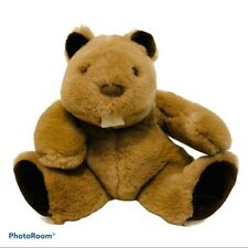 "Vintage Gund Buck Tooth Beaver Stuffed Plush Animal 1985 10.5"" Brown Rodent"