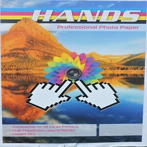 Hands Photo Paper Full Range from Gloss Matte Double Sided, Self Adhesive, Satin