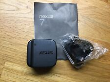 Genuine Nexus 7 Dual USB Mains 3 Pin Plug Adapter Wall Charger
