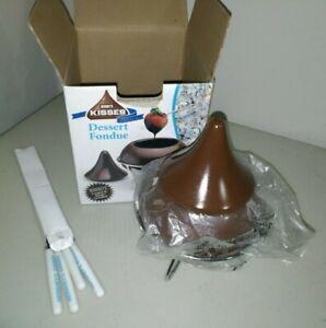 Hersheys Kisses Dessert Fondue Pot Stand Forks Set
