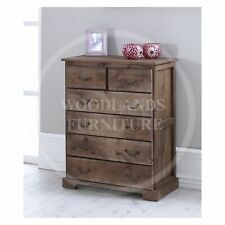 HANDMADE SOLID PINE  BALTIC 2+4 CHEST OF DRAWERS IN MAHOGANY  (ASSEMBLED)