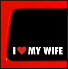 I love my wife Sticker Husband Family bumper sticker car truck