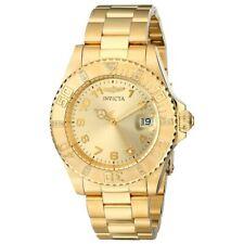 Relógio Feminino Invicta Pro Diver com mostrador em Tom Dourado Pulseira De Aço Quartzo 15249