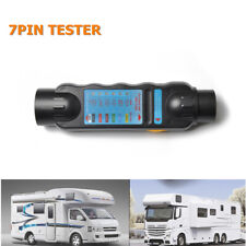 1Pack DC 12V 7-Pin Round Caravan Trailer Plug & Socket Circuit Tester Portable