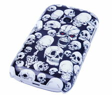 Hülle f Samsung Galaxy Young S6310 Schutzhülle Tasche Case Etui Cover Totenkopf