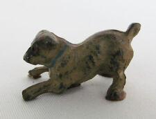 """Vintage Miniature Bronze ? Painted Metal 1"""" Pug Dog Figurine"""
